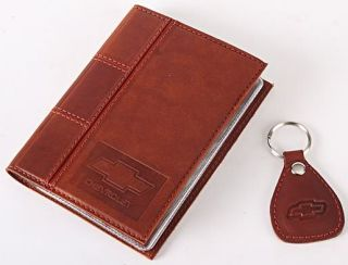 New Leather Auto Documents Holder Cover Drivers LICENCE Insurance Chevrolet