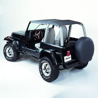Bestop Safari Bikini Tops for 92 95 Jeep Wrangler YJ Black Denim
