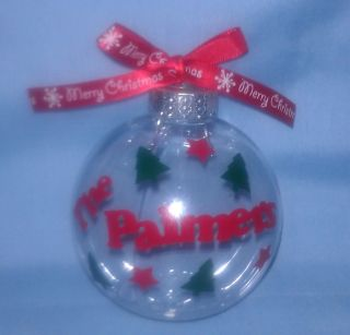 Personalized Fillable Unbreakable Christmas Ornament You Can Design Your Own