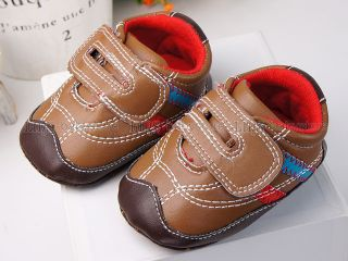 New Toddler Baby Boy Brown Sneakers Shoes US Size 2 A870