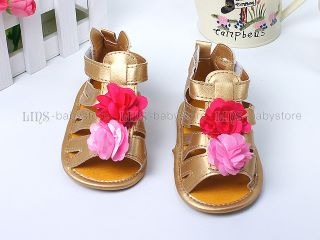 New Toddler Baby Girl Golded Sandals Shoes US Size 3 A1101