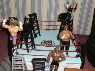 WWE WWF Mega Toy Figure Collection Raw SmackDown Elimination Ring RARE TLC Hardy