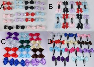 Wholesale Lot Cute Hairclip Bow Barrettes Baby Girl Toddler Handmad New 4 Option