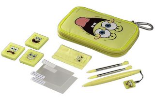 Official Spongebob Squarepants DSi 3DS Starter Set Accessory Pack Kit Bag Case