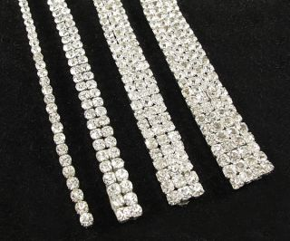 New Clear Crystal Rhinestone Glass Beads Cake Ribbon Banding Trim Wedding Decor