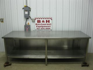 "96"" x 36"" Heavy Duty Stainless Steel Cabinet Work Prep Table 8' x 3'"