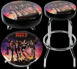 Kiss Destroyer Rock Band Concert Bar Stool Chair Seat