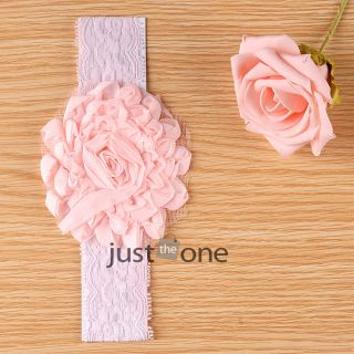 Cute Children Baby Girls Toddler Lace Hair Decoration Flowers Headband 4 12Month
