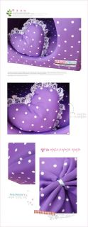 Rose Purple Pink Princess Pet Dog Cat Soft Bed House Tent Small Pillow