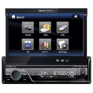 "Soundstream Vir 7830 7"" Touch Screen Monitor Car DVD CD  USB Player"