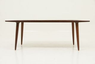 WOW Vintage Danish Modern Teak Surfboard Coffee Table