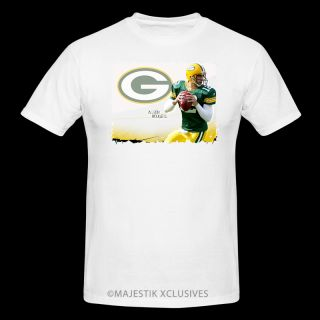 QB Aaron Rodgers Green Bay Packers Player T Shirt NFL Team Jersey s XL White