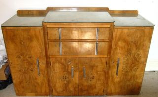 Art Deco Dining Suite Table 6 Chairs Sideboard Epstein