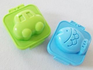 6 Pcs Heart Star Bear Rabbit Fish Car Boiled Egg Sushi Rice Roll Mold Mould Tool
