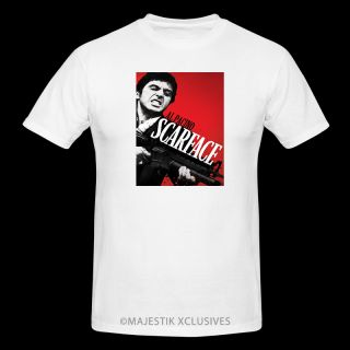 Scarface Al Pacino Movie T Shirt Hip Hop Urban Street DVD Blu Ray Gangster Mob
