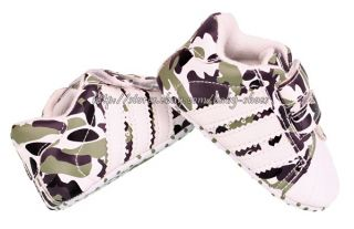 Baby Boys Girls Camouflage Sneakers Camo Crib Shoes Size Newborn to 18 Months