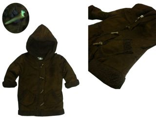 Baby Toddler Girls Brown Coat Jacketw Hoods Clothes Outerwear Age 1 2 3 4 5T