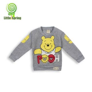New Baby Girls Boys Kids Clothing Long Sleeve Sweater Fleece Pullover Bear 2 3 T