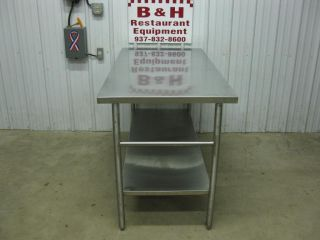 "60"" x 30"" Stainless Steel Heavy Duty Work Table 5' x 2 1 2'"