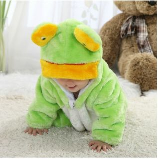 "New Baby Boys Girls Winter Snowsuit Fleece Hoodie Jumpsuit Outwear""Cozy Frog"""