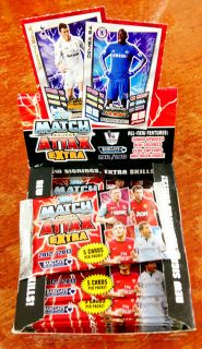 Topps Match Attax Extra 2012 2013 Season Trading Card Game Booster Packet New