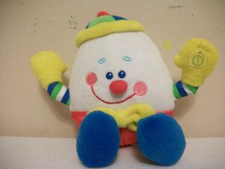 "RARE Humpty Dumpty First Years Plush Baby Toy 8"" EC"