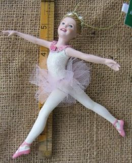 Kurt Adler Ballerina Resin Chistmas Ornament
