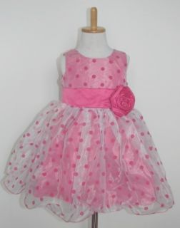 Ruffle Girls Baby Bubble Tulle Polka Dot Formal Dress Kids Princess Skirt 2 3yrs