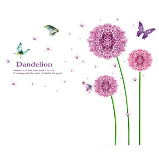 Tall Dandelion Butterfly Removable Wall Sticker Decal