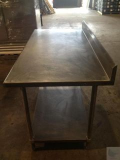 5' Stainless Steel Commercial Kitchen Counter with Table and Splashguard
