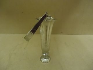 Designer Flower Vase Decorative 12in H x 5in D Chrome Traditional Handle Brass