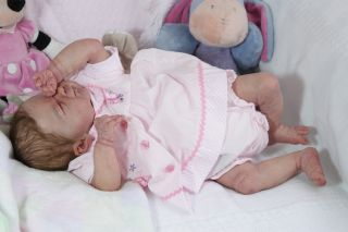 Lifelike Newborn Reborn Baby Girl Franklin by Elisa Marx Tummy Plate