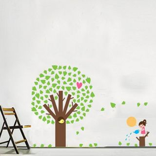 Tree and Kid Wall Sticker Decal