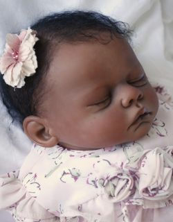 Reborn Baby Doll Girl Sasha Meg by Marissa May 20 inch Biracial Ethnic AA