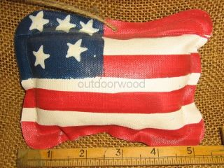 Red White Blue USA American Flag Stuffed Christmas Ornament New