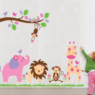 Zoo Animals Wall Sticker Decal