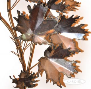 Curtis C Jere ►signed Vintage Maple Leaves Stainless Steel Metal Wall Sculpture
