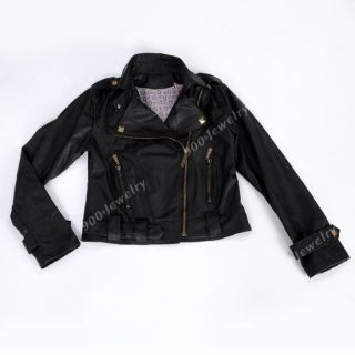 Womens PU Faux Leather Jacket