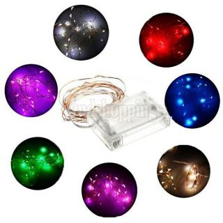 2M 4 5V 1 2W 20 LEDs Battery Operated Mini LED Copper Wire String Fairy Lights