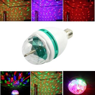 E27 RGB Crystal Magic Ball Stage Light LED Rotating Lamp for Party Disco DJ