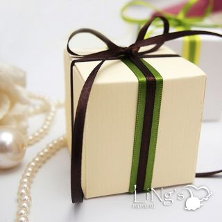 "2""X2""X2"" Ivory White Wedding Favor Party Baby Shower Truffle Candy Gift Boxes"