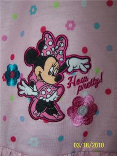 Polka Dot Minnie Mouse Nightgown Pajamas New Disney