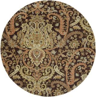 Plush Semi Worsted Wool Classic Traditional Area Floor Rug Rectangle Brown Beige