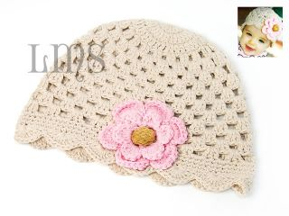 H16 New Infant Toddler Baby Girl Crochet Beanie Hat