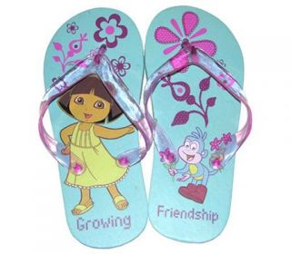 4 Dora Explorer Kid Girl Thong Flip Flops Beach Sandals