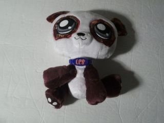 2007 Hasbro Littlest Pet Shop Panda Bear Stuffed Animal 8""