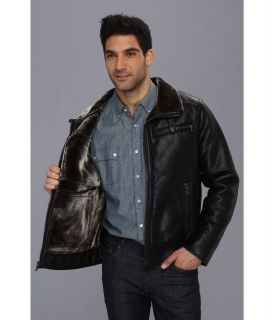 Calvin Klein Faux Leather Jacket W Faux Shearling Lining Cm39p125 Black