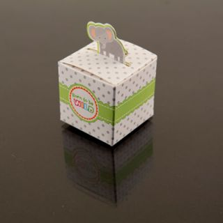 24 Elephant Born to Be Wild Jungle Baby Shower Favor Candy Boxes Party Deco