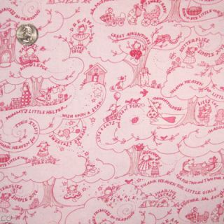 Free Spirit Fabric Baby Girl Toile Pink Kids Children