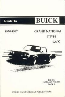 Buick Grand National GNX Regal 1980 1981 1982 1983 1984 1985 1986 1987 Book 2